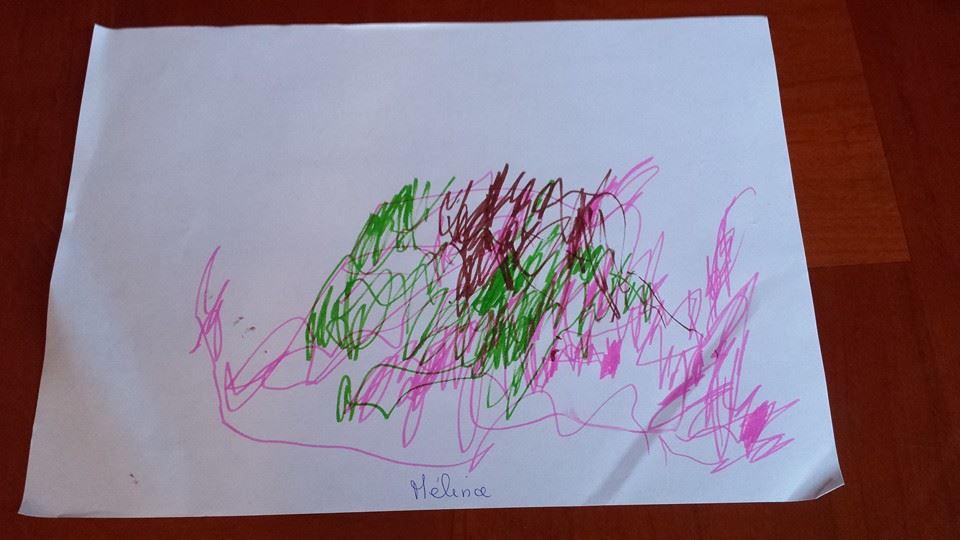Mélina dessine maman, assistante maternelle Collin Sylvie