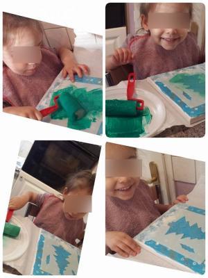 peinture au pochoir, assistante maternelle villeparisis