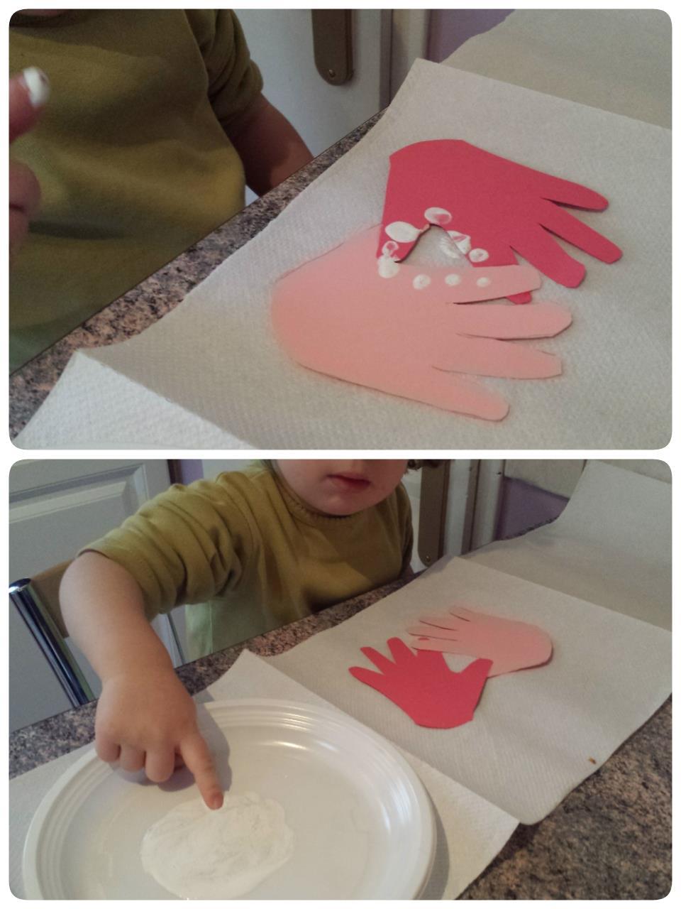 Empreinte du doigt, ateleir création, assistante maternelle Villeparisis, blog