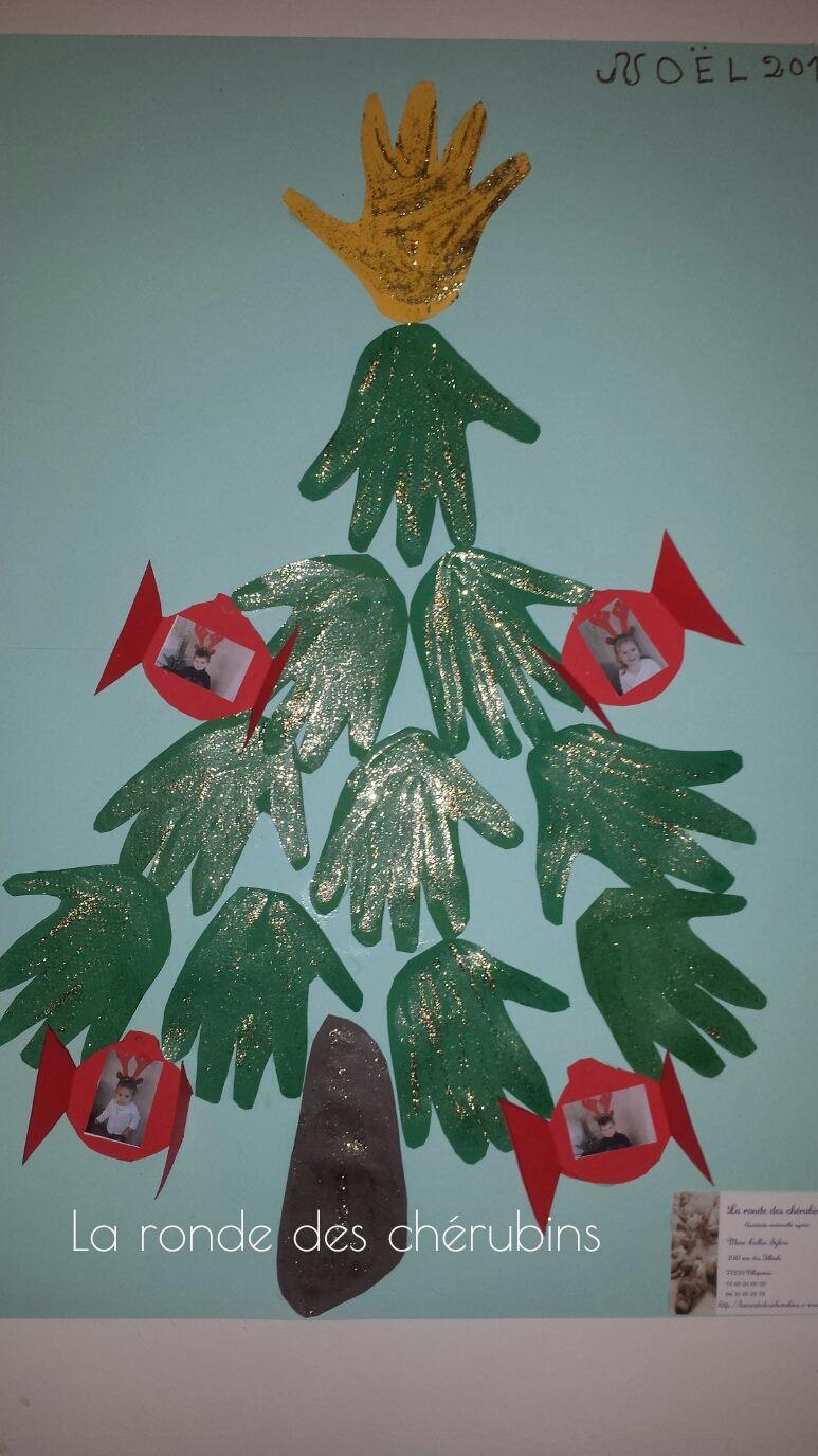 Sapin de Noël, la ronde des chérubins, assistante maternelle Collin Sylvie