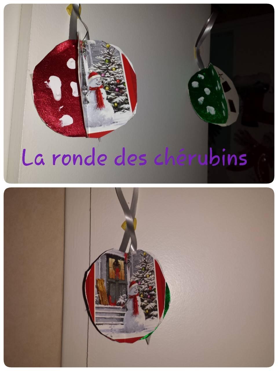 Nos boules de Noël: la ronde des chérubins Villeparisis