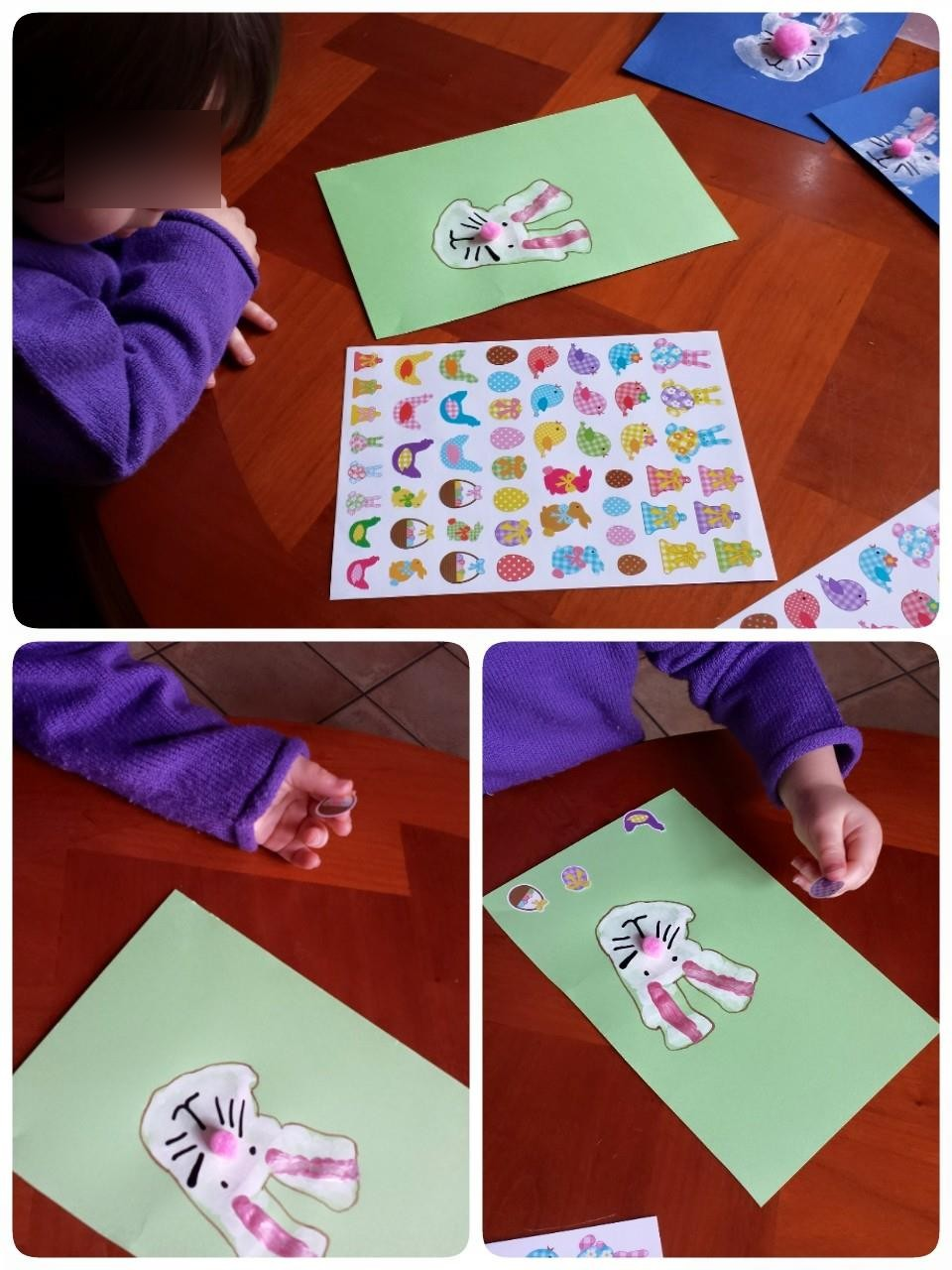 Atelier création, petite enfance,Pâques, blog, assistante maternelle Villeparisis, places disponibles juillet, août, septembre 2015