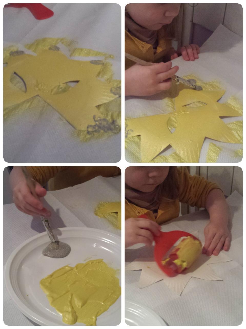 Mélina, peind son masque, petite enfance, Collin Sylvie assistante maternelle