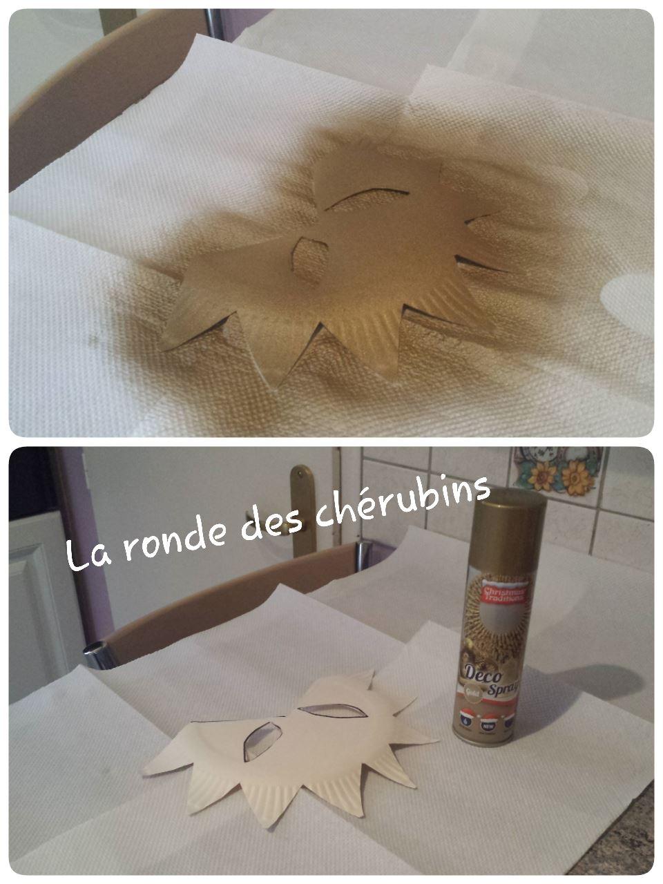 masque de carnaval en préparation, la ronde des chérubins Villeparisis