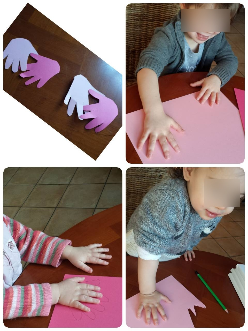 Empreintes des mains, Collin Sylvie, petite enfance, Villeparisis, garde d'enfants
