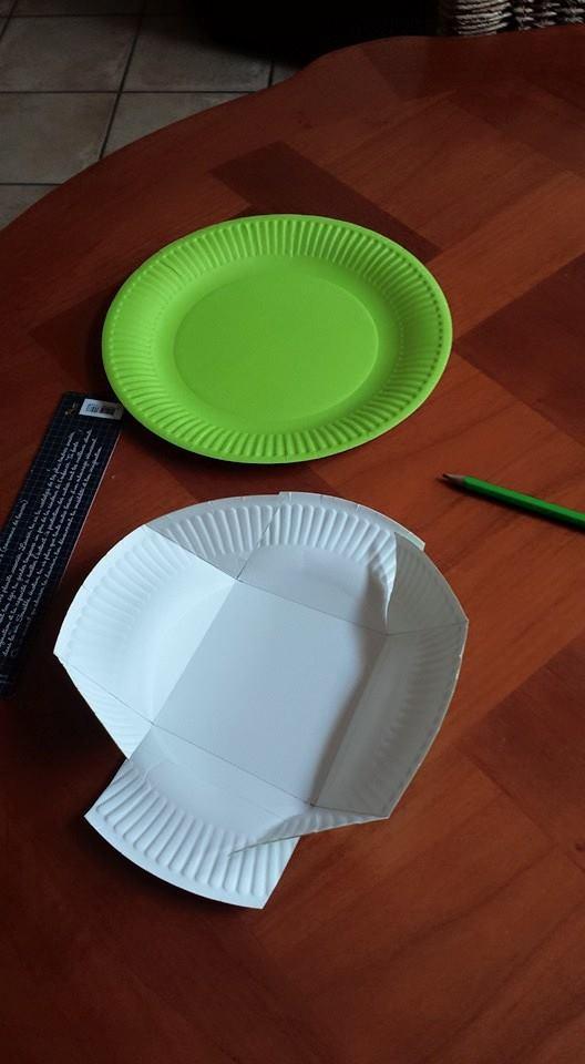 panier de pâques avec une assiette en carton