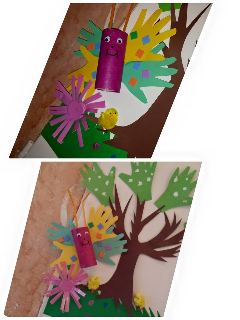 fresque murale: les papillons, blog Collin Sylvie Villeparisis