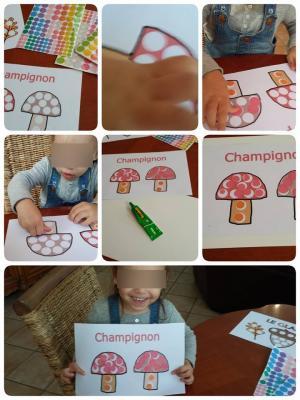 Imagier d'automne: le champignion, assistantes maternelles Villeparisis,agenda