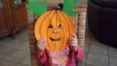 Citrouille d'Halloween, Villeparisis, petite enfance