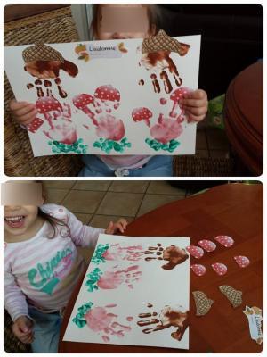 petite enfance Villeparisis, l'automne, les champignons, atelier des tout petits, nourrice