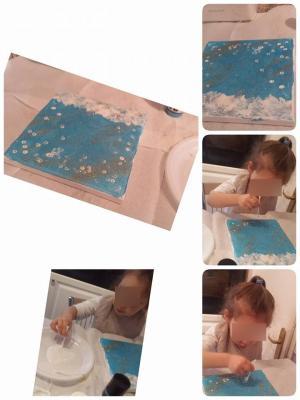 peinture au coton tige, petite enfance