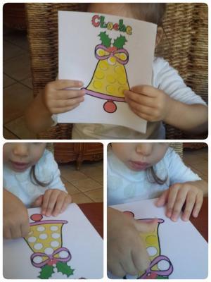 la cloche de Noël, assistante maternelle Villeparisis