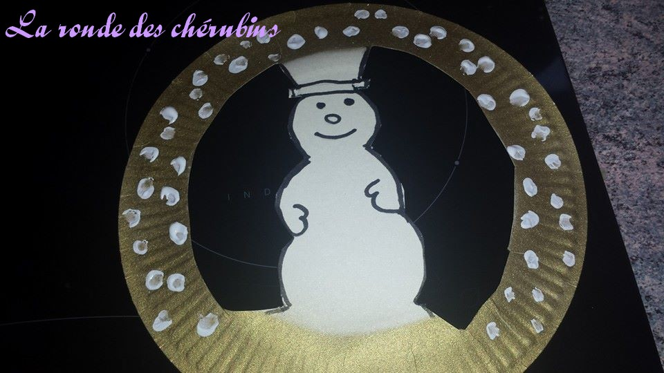 Bonhomme de neige à suspendre, Collin Sylvie, petite enfance, Villeparisis