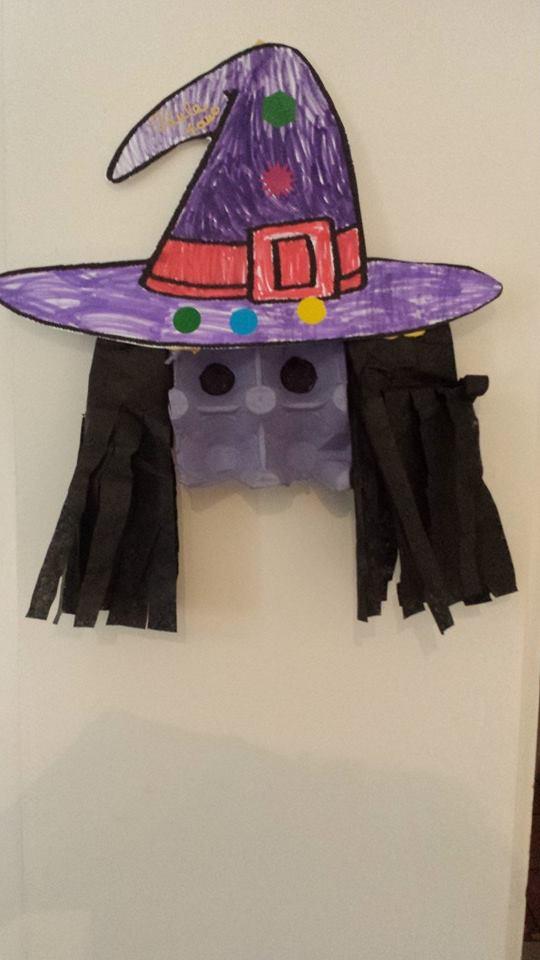 Sorcière d'Halloween,chez l'assistante maternelle