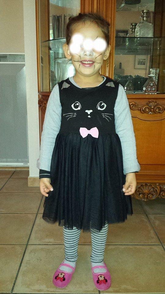 Petit chat noir d'Halloween, assistante maternelle Villeparisis