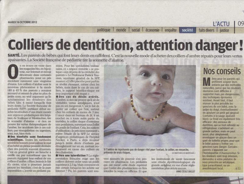 Les dangers des colliers d'ambre, assistante maternelle Villeparisis