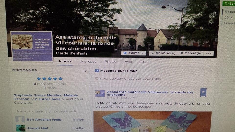 Facebook assistante maternelle Villeparisis: la ronde des chérubins